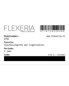 prepaid code voor uitbreiden van een sloteigenaar met de mogelijkheid om sleutels aan een organisatie uit te geven (voor 5 jaar en per Flexeria product)