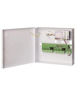 interlock controller met 12V=, 3Amp. netvoeding in plaatstalen kast